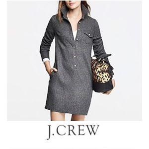 J. Crew Chevron Wool Long Sleeve Dress